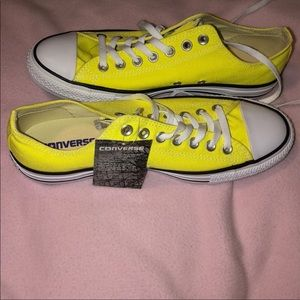 Yellow Low Top All Stars by Converse